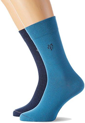 Marc O'Polo Body & Beach Herren Socken SOCKS MEN (2, 2er Pack, Gr. 47/50 (Herstellergröße: 464), Blau (blau 800)