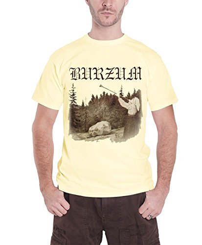 Burzum T Shirt Filosofem band logo Ufficiale Uomo nuovo Cream