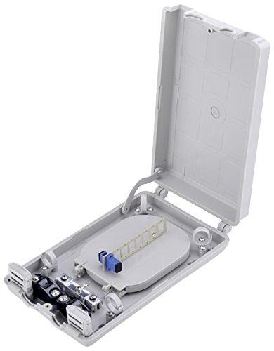 DIGITUS Professional LWL-Distributionsbox, 16x Spleiß, für 8x SC Simplex oder 8x LC Duplex