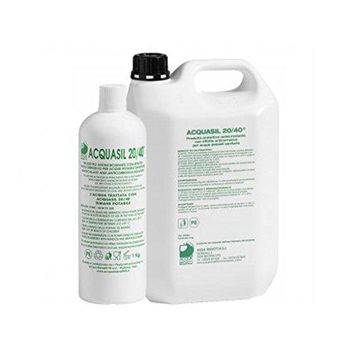 Acquasil 20/40 tanica 5 kg anticorrosivo ed antincrostante pompe minidos e bravodos PC003 acquabrevetti