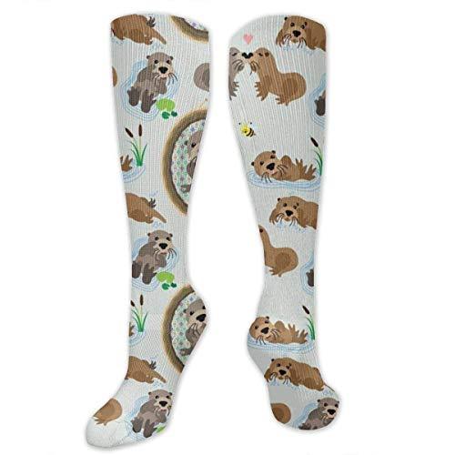 XIUZHEN Lustige warme Unisex-Kleidersocken, für sportlich laufende Krankenschwestern Schwangerschaftsreise Lange Socken, Neuheitsgeschenk - Otter