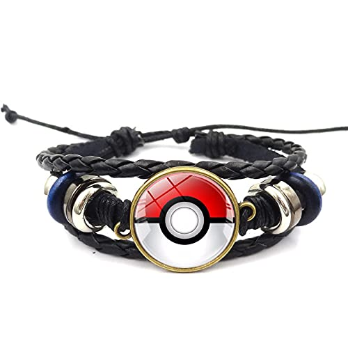 Anime Pokemon Go Pokeball Figures Bracelet Cute Cartoon Movie Woven Bracelet Jewelry Cosplay Birthday Gift