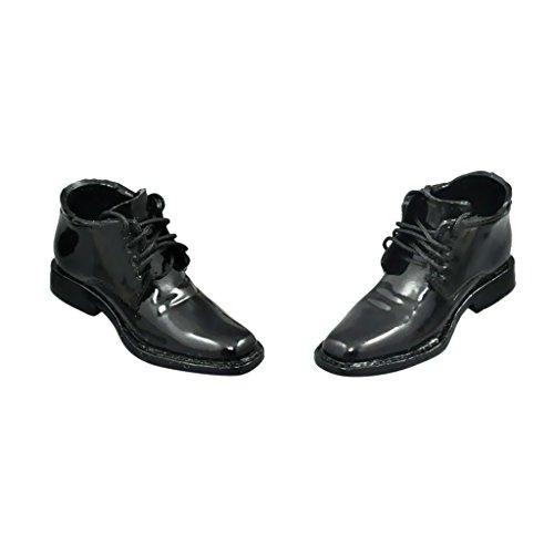 MagiDeal Chaussures Lacets Noir 1/6 Scale pour 12'' Figure Poupée Homme Garçon