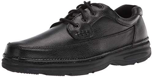 Nunn Bush mens Cameron Moccasin Toe Oxford with Comfort Gel, Black, 10.5 X-Wide US