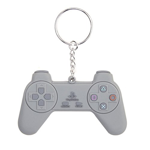 Sony Playstation One Rubber Portachiavi Controller 8 Cm Bioworld