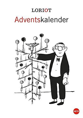 Loriot Adventskalender 21x29,7cm: Wandkalender mit humorvollen Motive für die Adventszeit