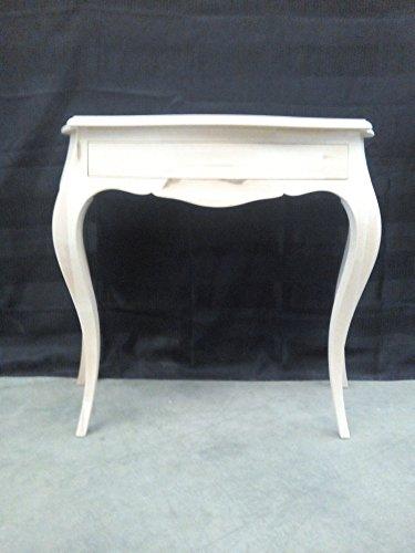 Console d'entrée en bois avec 1 tiroir en bois brut moulé