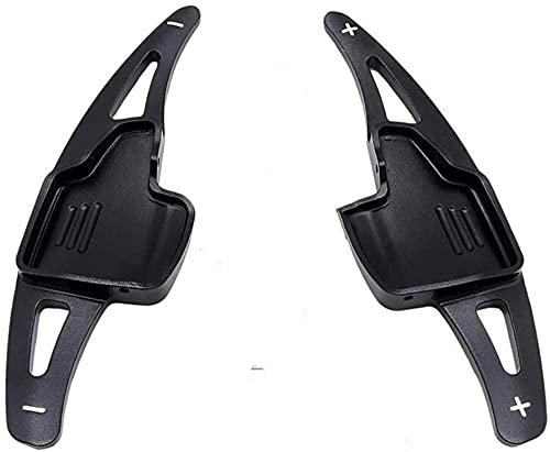 HAHASG cambio de paleta de coche luz a prueba de herrumbre palanca de cambios de aluminio borde del volante, para, para Focus escape kuga 2015-2018-negro
