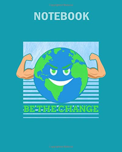 Notebook: earth day environment fairtrade - 50 sheets, 100 pages - 8 x 10 inches