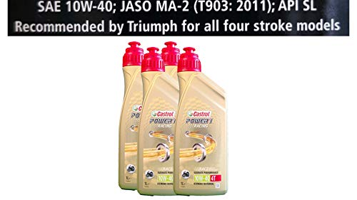 Castrol Power 1 Racing 4T 10W-40 motorolie 4x1 liter Specificaties API SJ JASO MA2