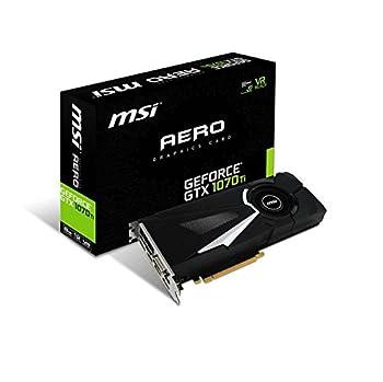 MSI Gaming GeForce GTX 1070 Ti 8GB GDRR5 256-bit HDCP Support DirectX 12 SLI Single Fan VR Ready Graphics Card  GTX 1070 TI AERO 8G