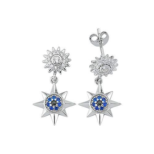 Pendiente Estrella Azul 925