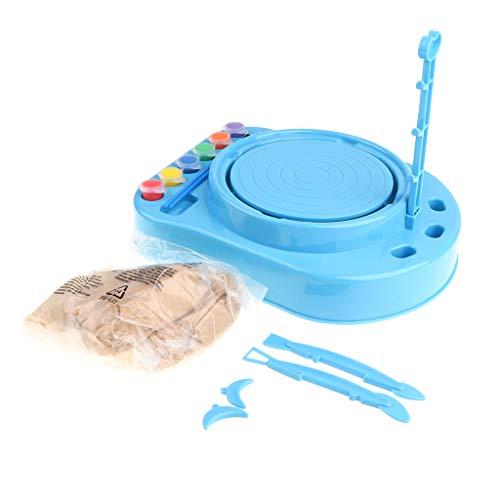 B Blesiya Juguete de Torno de Alfarero Herramienta de Arcilla de Simulación Juego de Imaginación para Niños Muchachos - Azul