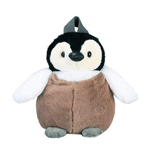 ADIE Animal Relleno Felpa Mochila Bolsa Juguetes - Hombro Lindo pingüino morral de la Felpa for Las Muchachas de Color Caqui Pingüino Felpa Bolsa de cumpleaños for Las Muchachas suav (Color : Khaki)
