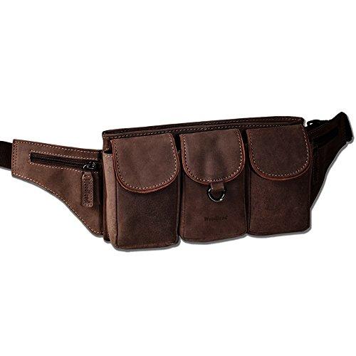 Woodland Leder Bauchtasche Hüfttasche (284C) Gürteltasche Lauftasche Handytasche Geldgürtel Neu