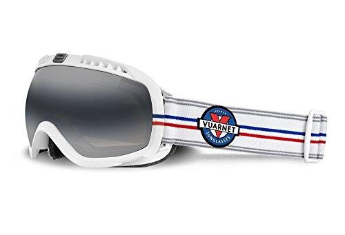 Gafas de sol deportivas unisex VUARNET VK 1101 0014, color negro y blanco