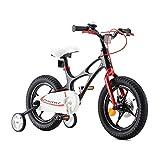 Royal Baby Bicicletta per Bambini Ragazza Ragazzo Space Shuttle Bici Bicicletta da Bambino in magnesio 18 Pollici Nero