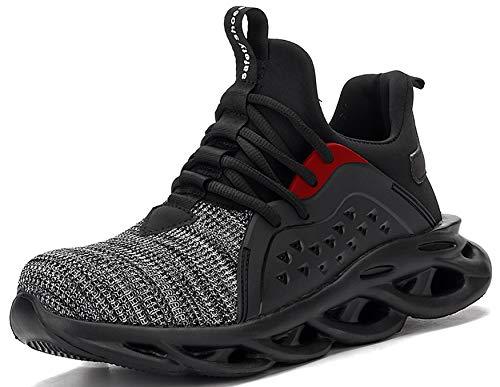 SUADEX 作業靴 安全 靴 作業 おしゃれ あんぜん靴 グレー 工事現場 靴 スニ一カ一 軽量 通気性 鋼先芯 耐摩耗 防刺 耐滑ソール アウトドア スニーカー ワーク シューズ セーフティーシューズ