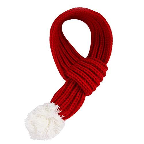 Amosfun Weihnachts-Schal für Hunde und Katzen