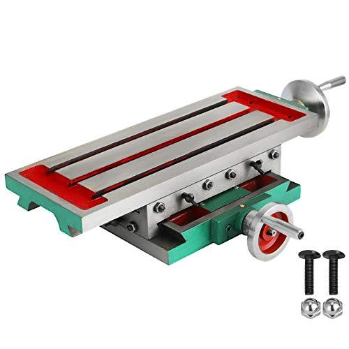 VEVOR Cruz Fresadora Compuesto 2 Ejes 4 Formas, Mesa de Trabajo Multifuncional 450X170mm 30KG, Mesa de Fresado Deslizante para Todos los Soportes de Perforación Fresadora de Banco