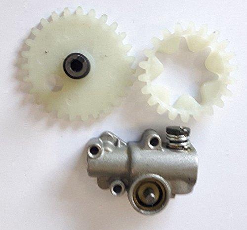 WANWU Kompatibel Stihl 038MS380MS381Öl Pumpe & Worm Gear Plus Sporn Rad
