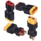 Deans T Plugs to XT60 Adapter Connector Male Female for RC Lipo Battery Charger (4-Pack)