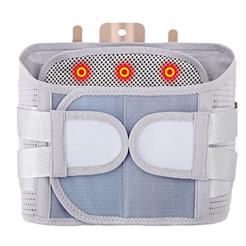 GYAM Cinturón de Soporte Lumbar para Hombres y Mujeres, cinturón lumbosacro para la Espalda, cinturón de Cintura Ancha magnético autocalentable, Soporte óseo de Acero,L
