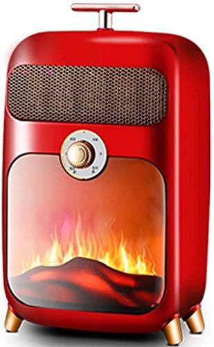 HIGHKAS Inicio Equipos Estufa eléctrica Estufa eléctrica Retro 900W Quemador de leña Estufa de Fuego W Efecto de Llama Chimenea Independiente Chimenea de leña LED L