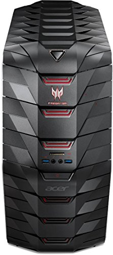 Acer Predator G6-710 Gaming Desktop PC (Intel Core i7-6700K, 64GB RAM, 512GB SSD, 4.000GB HDD, GeForce GTX Titan X (12GB VRAM), DVD, Win 10) schwarz