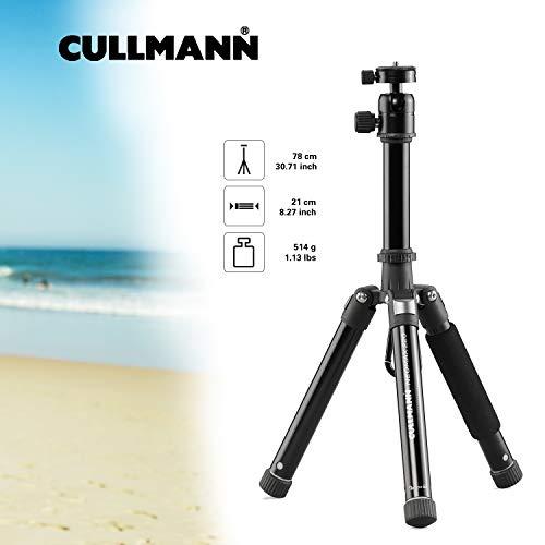 Cullmann Neomax Reisestativ mit geringem Packmaß (21 cm), leicht, schwarz