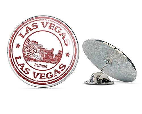 """Las Vegas Nevada USA Round Metal 0.75"""" Lapel Pin Hat Shirt Pin Tie Tack Pinback"""
