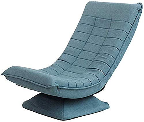 Relaxbx Boden Falten Gaming Sofa Stuhl 360 Grad; Drehung Rückenlehne um 125 Grad klappbar; bequemes Liegen Single Lounge Sessel Schlafzimmer Wohnzimmer Traggewicht 150kg (Farbe: Blau)