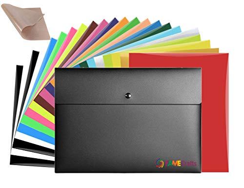 Fame Crafts Heat Transfer Vinyl Bundle 12'x10'- 20 Pack of Assorted Color DIY T-Shirt Vinyl Transfer...