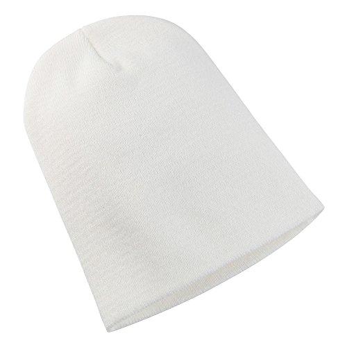 Yupoong - Bonnet épais Long - Adulte Unisexe (Taille Unique) (Blanc)