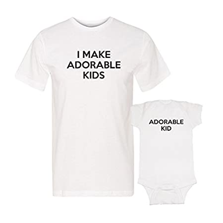 Matching Adorable Kid I make Adorable Kid shirts funny first Father's Day Gift