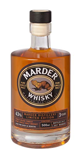 Marder Whisky Pure Single Malt Limited Edition 2019: Whisky aus dem Schwarzwald Standardflasche 500ml