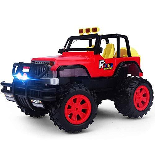 YLJYJ 1: 14 Coche de Control Remoto Totalmente proporcional, Sistema de tracción 4WD 2.4GHZ Camión de Coche de Carreras Buggy de pies Grandes controlado por Radio, Doble (Coche Inteligente)