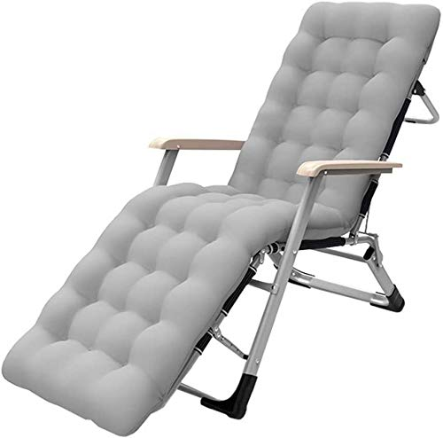 MFLASMF Productos para el hogar Tumbonas Plegables Patio Lounge Sillones reclinables Lounge Chaise Chair Cama Ajustable Garden Beach Chair con cojín para Exteriores, Camping, Playa, cubier