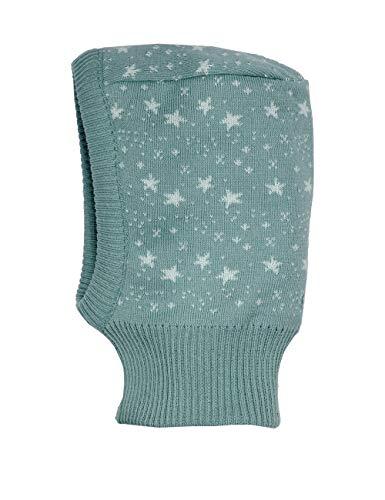 maximo Unisex Baby Schlupfhaube mit Sterne Mütze, Mehrfarbig (Lead/Starlight Blue 5622), (Herstellergröße: 45)