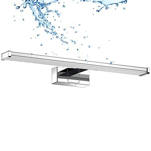 LVWIT Luce LED da Specchio per Il Bagno,Lunghezza 400mm,IP44 Impermeabile Resistente ad Acqua,Antiruggine,8W,640LM,Luce Bianca Naturale 4000K,Lampada LED Parete Lavabo,Pacco da Una Unità