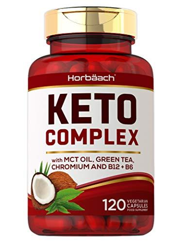 Keto Complex | 120 Vegetarian Capsules | with MCT Oil, Green Tea & Chromium | Advanced Keto Diet Pills for Men & Women | Non-GMO, Gluten Free