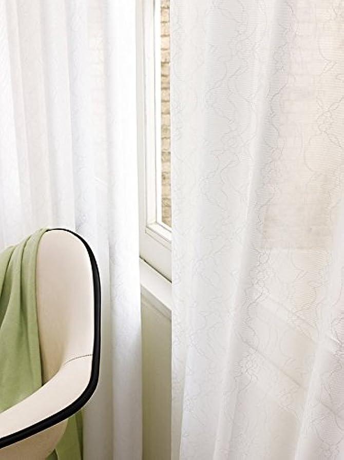 申請中偏見明るくする東リ 花柄が可愛らしいレース カーテン1.5倍ヒダ KSA60441 幅:150cm ×丈:160cm (2枚組)オーダーカーテン