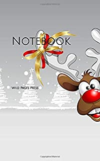 Notebook: Christmas card Santa Claus reindeer Xmas snow presents