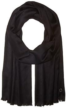 Calvin Klein Women s Pashmina Scarf black solid One Size