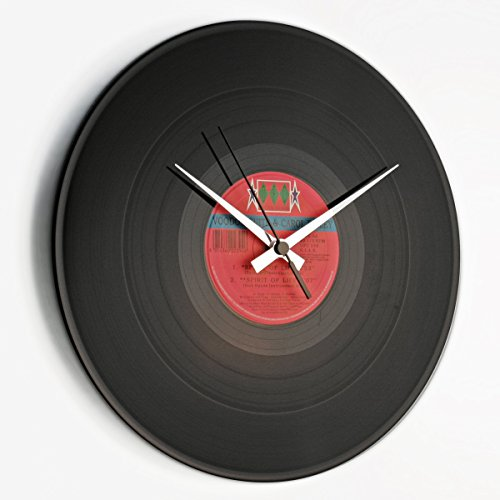 DISC´O´CLOCK DISCOCLOCK - Schallpatten-Uhr - Wandur aus Vinyl - Deko wanduhr - Made IN Italy