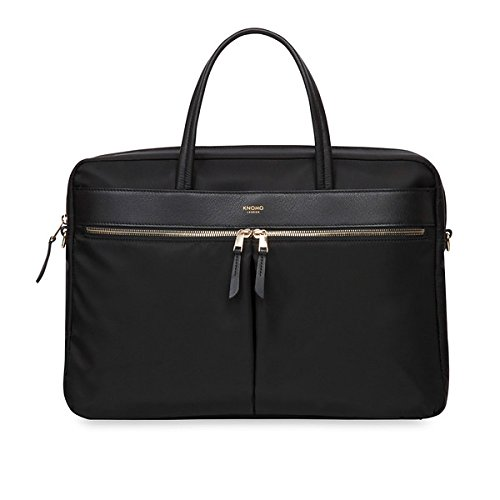 Knomo 119-104-BLK'Hanover' Slim Briefcase for 15-Inch Laptop - Black