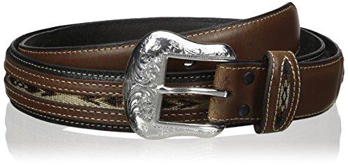 Nocona Belt Co. Men's Top Hand Black Middle Inlay, 40