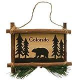 Rustic Axentz Bear Wooden Sign Collectible Hanging Ornament, 5-inch, Colorado Souvenir Gift