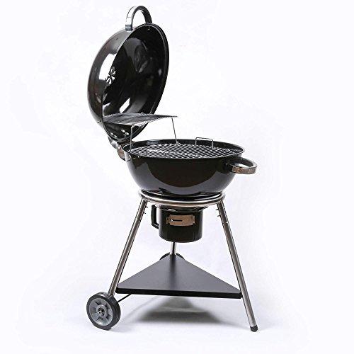 Mayer Barbecue Brenna Kugelgrill MKG-422 Holzkohlegrill, XXL Grillfläche Ø 57 cm, Rost 2-Fach Aufklappbar, Deckelthermometer, 75 x 101 x 72 cm (B x H x T)