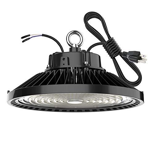 High Bay LED Light 200 Watt 1-10V Dimmable 30000 Lumen, Listed 5000K Bright White , 800W HPS or MH Bulbs Equivalent , Industrial Highbay Light , Warehouse Light Fixtures , AC 90-277V